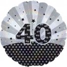 "Cti Foil 18"" Dazzeloon 40th Birthday Helium Balloon"