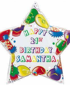 "Qt Foil 36"" Birthday Party Star - Name"