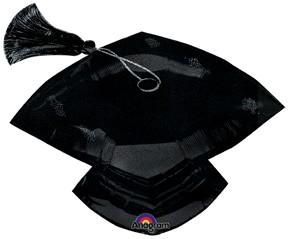 Foil Shape 31inch Sparkly Grad Cap Holographic