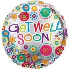 Foil Shape 32inch Get Well Soon