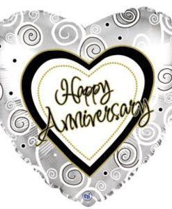 CTI Foil 18inch Anniversary Swirls