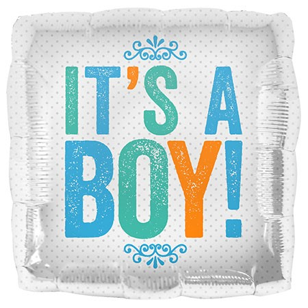 Northstar Foil 18inch Its a Boy Block Letters