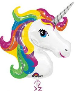 Anagram Foil Shape Unicorn Head Rainbow (83cm x 73cm)