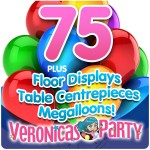 Complete helium balloon Party Pack 6